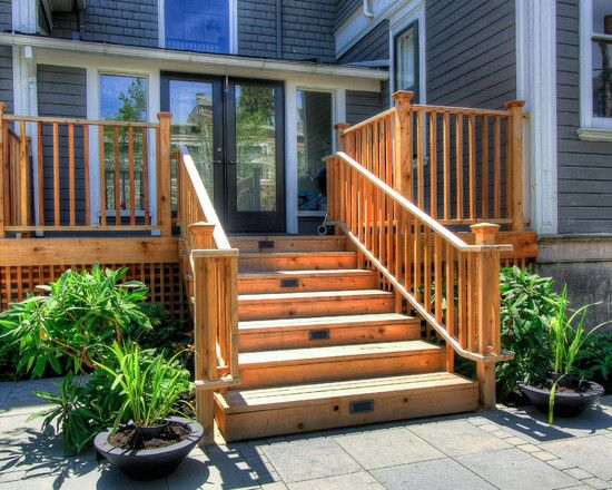Deck Stairs Design Ideas exterior deck railing designs in stair design ideas for decks Small Deck To Make For A Large Stone Patio Area
