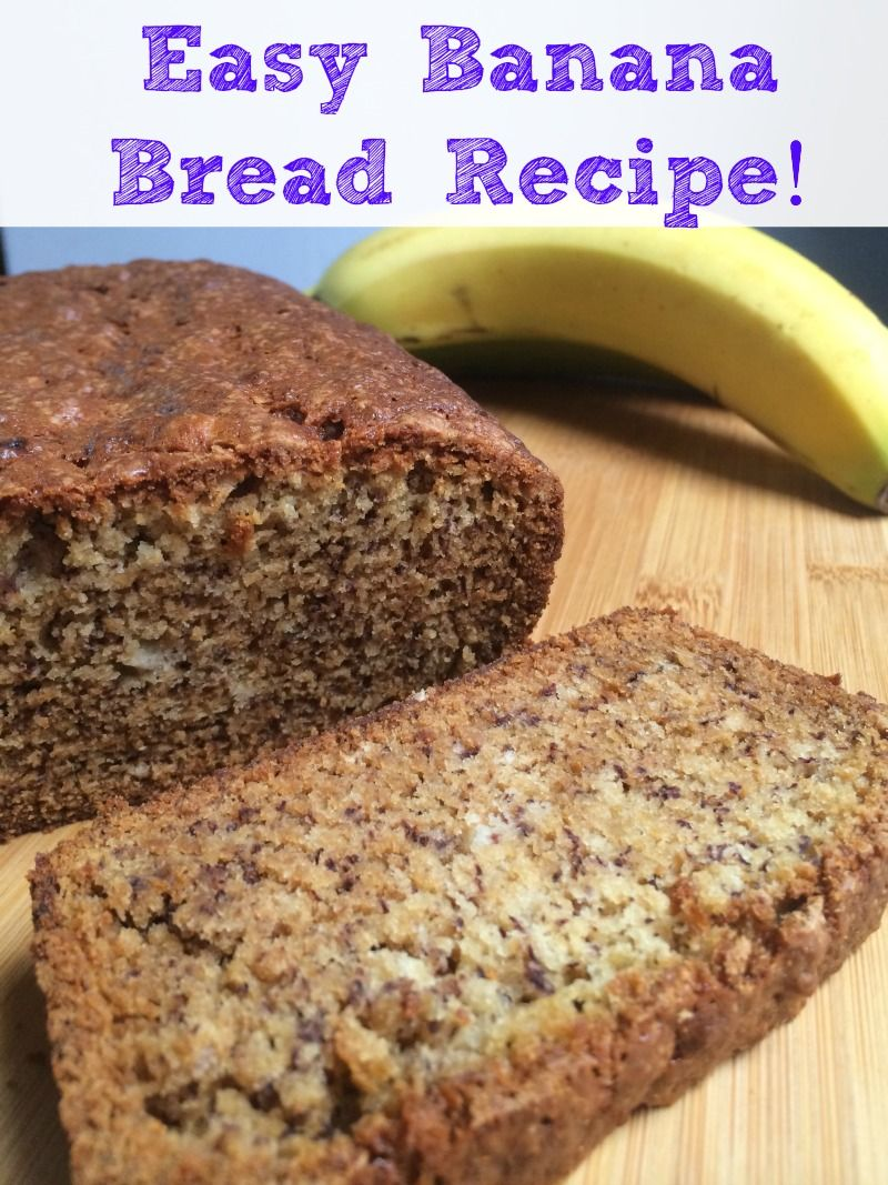 Banana bread from scratch recipe banana bread allergies and bananas this banana bread from scratch recipe has no eggs and no nuts so it is great forumfinder Choice Image