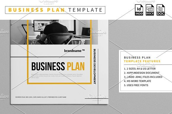 Business Plan Template By Mastergfx On Creativemarket  Design