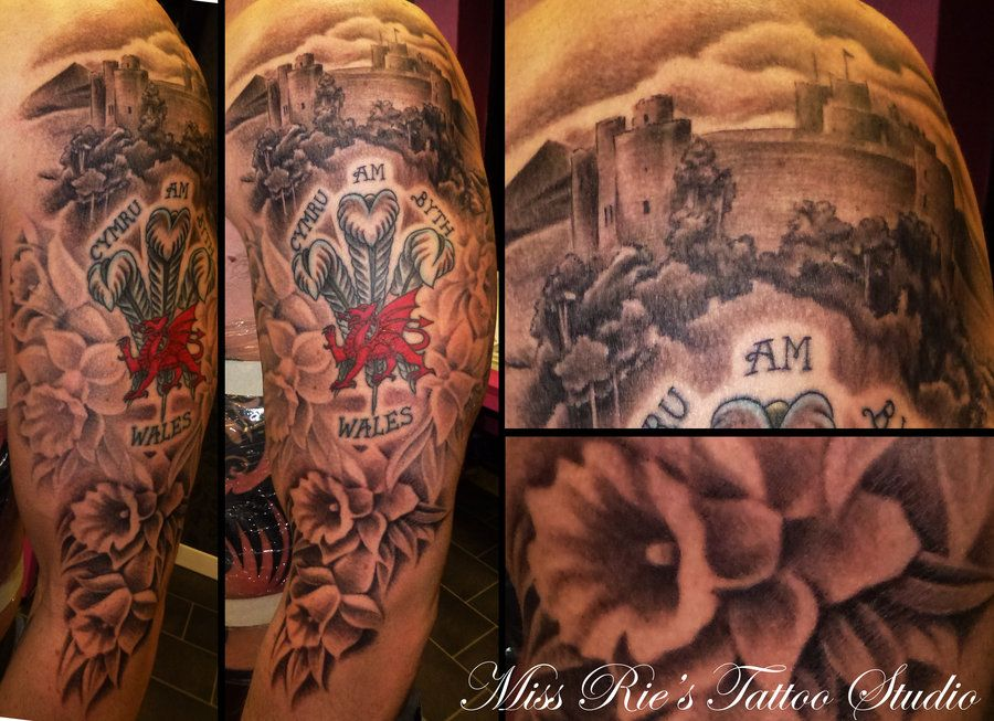 Welsh Inspired Sleeve Tattoo By Onksy On Deviantart Welsh Tattoo Sleeve Tattoos Tattoos