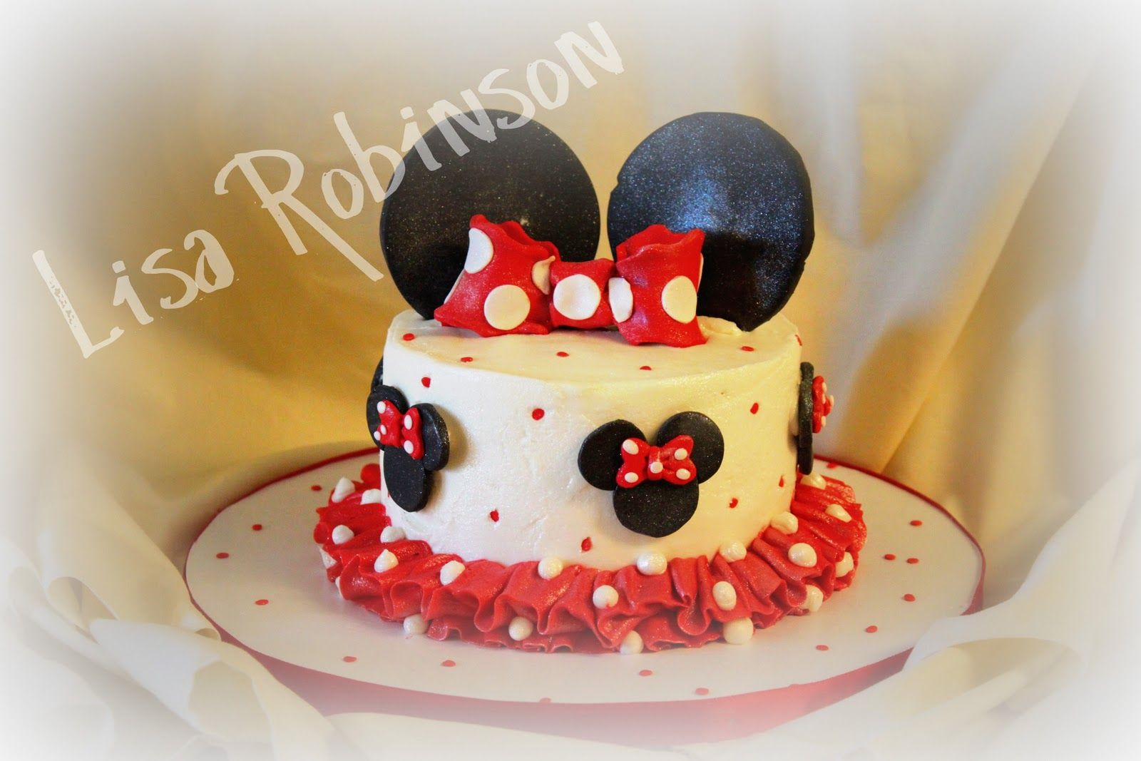Prime Minnie Mouse 1St Birthday Cake Minnie Mouse Birthday Cakes Mini Personalised Birthday Cards Veneteletsinfo