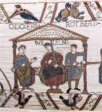 Herleva also known as Herleve, Arlette, Arletta & Arlotte de Falaise My 29th great grandmother Birth About 1003 Death About 1050 The picture is a Bayeux Tapestry scene of Herleva's sons: William (in the center), Odo on the left and Robert