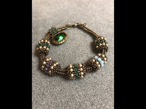 Interlace Beaded Bead & Tubular Herringbone Chain - A Bronzepony Beaded Jewelry Design - YouTube #beads