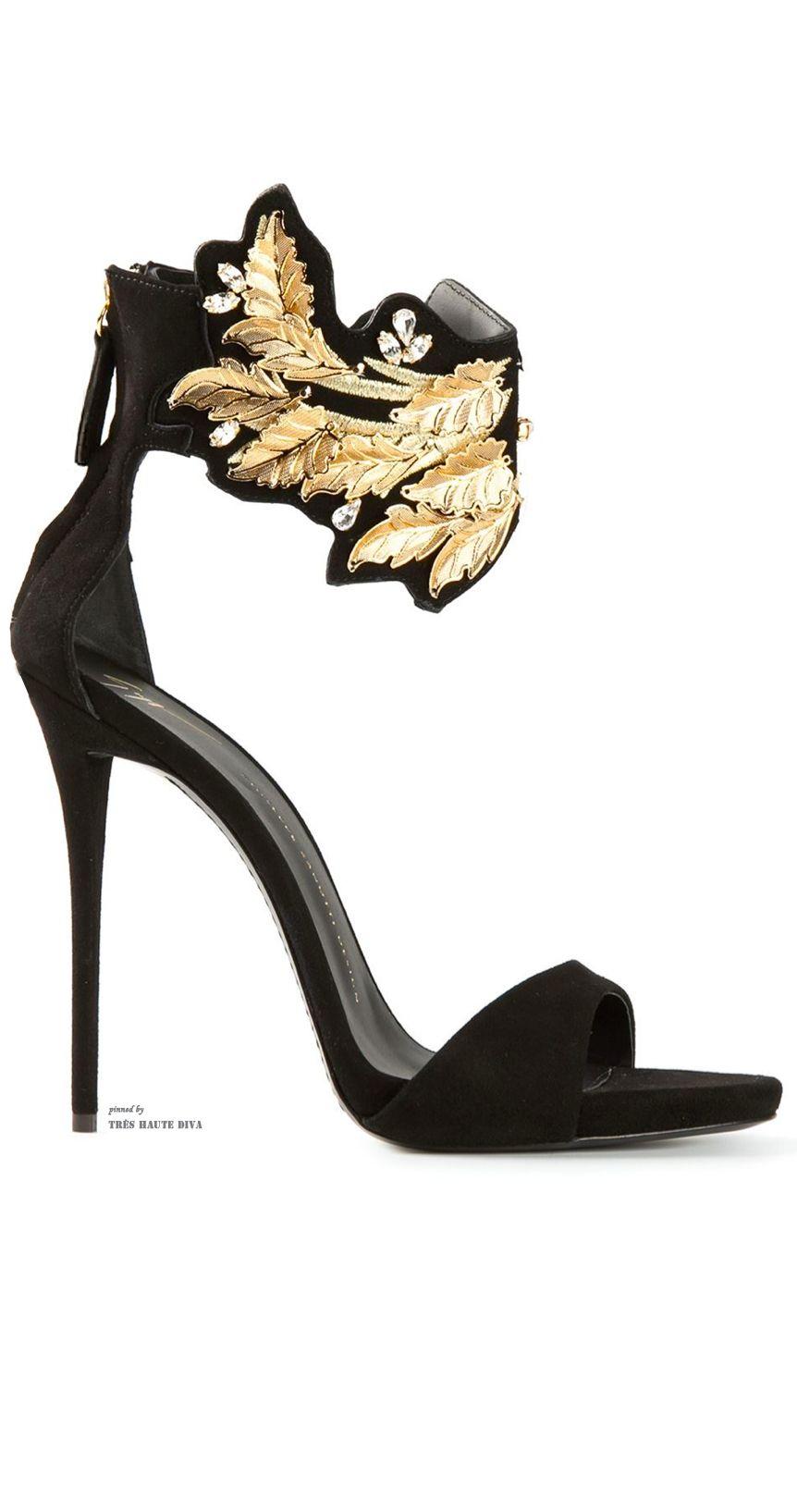 cf068feeb9f42 Giuseppe Zanotti Leaf Detail Sandals ♔THD♔ | Cinderella | Shoes ...