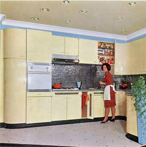 Cuisine En Formica De La Marque Amiral De 1963 Cuisine Formica Cuisine Pose Cuisine