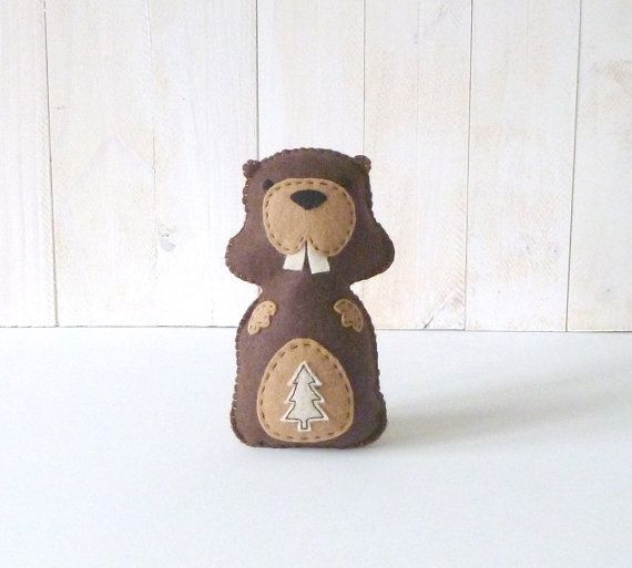 Beaver Hand Sewing PATTERN // DIY Woodland by LittleHibouShoppe ...
