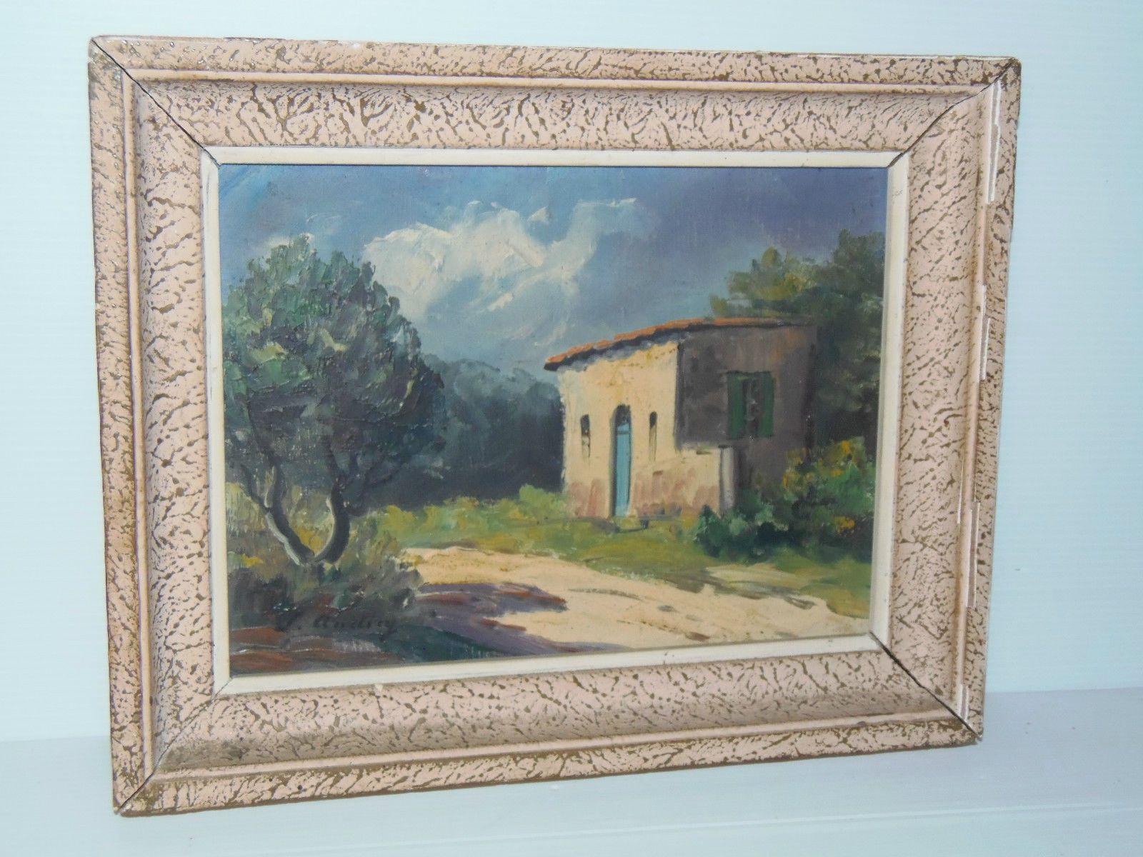 Nettoyer Un Vieux Tableau tableau huile sur toile hst 1950 paysage mas provence