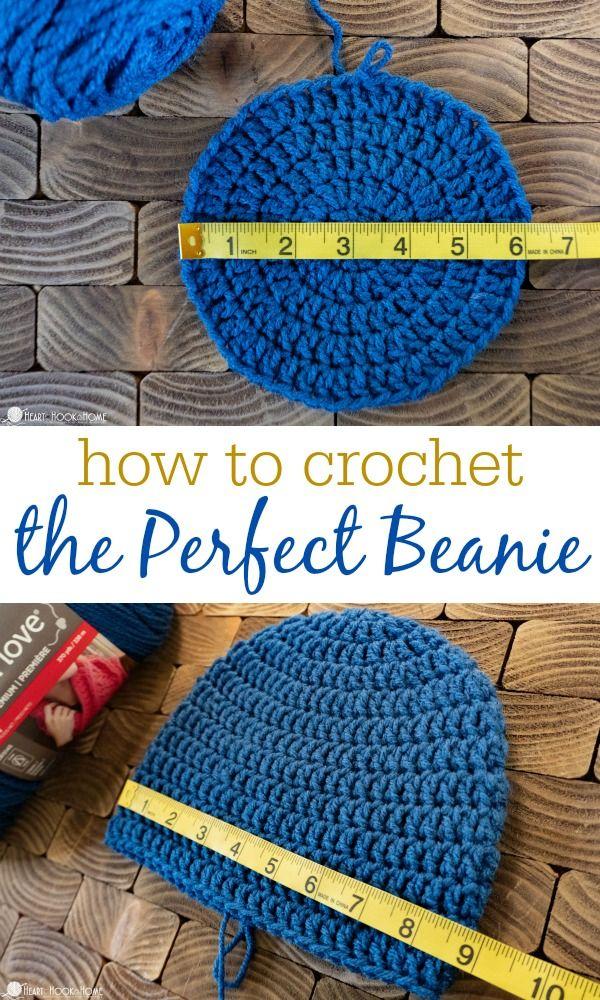 How to Size Crochet Beanies + Master Beanie Pattern #beaniehats