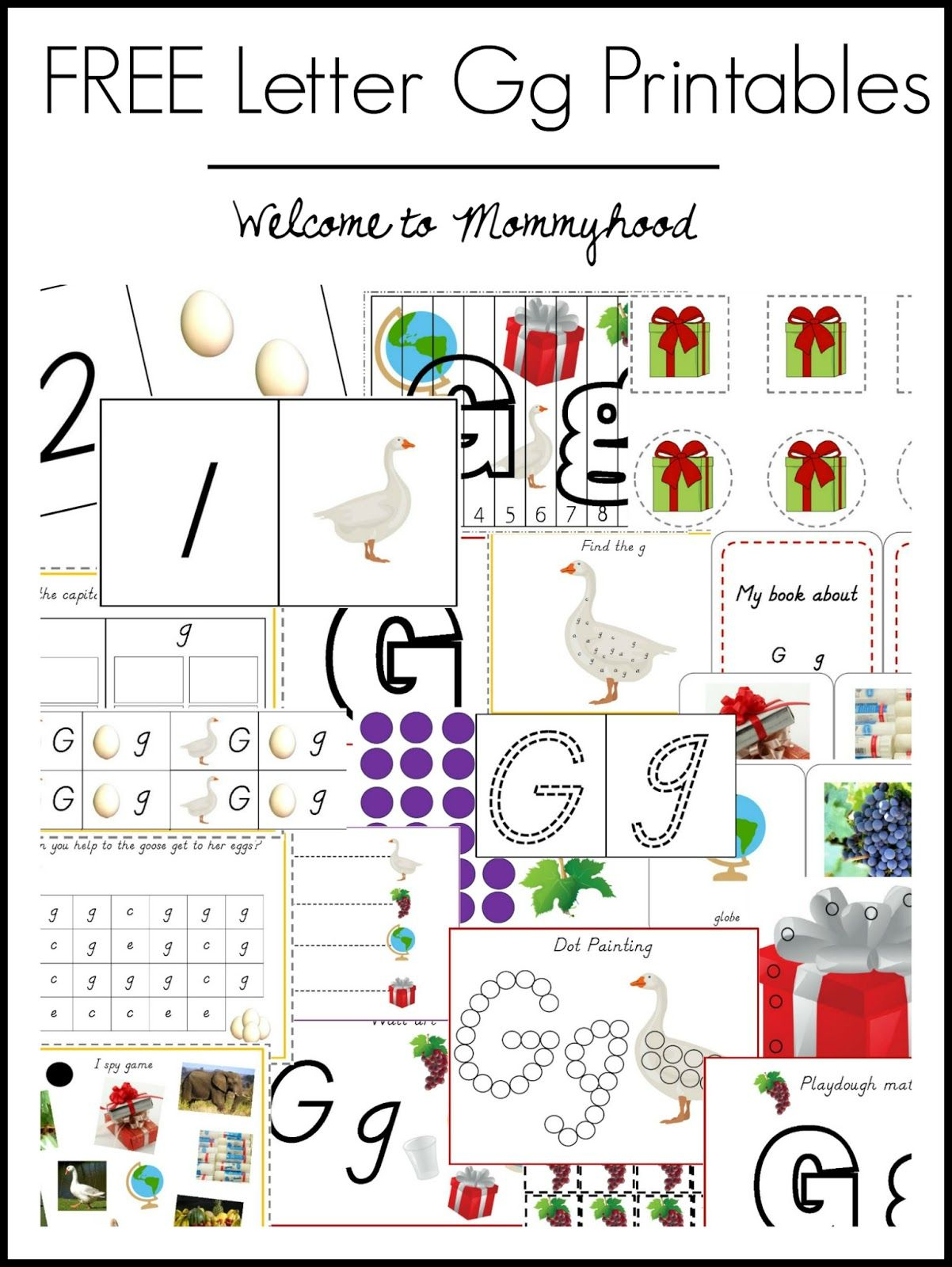 Free Letter Gg Printables From Welcome To Mommyhood