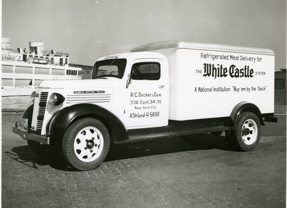 RC Decker Co Meat Delivery Truck For White Castle Located In New York