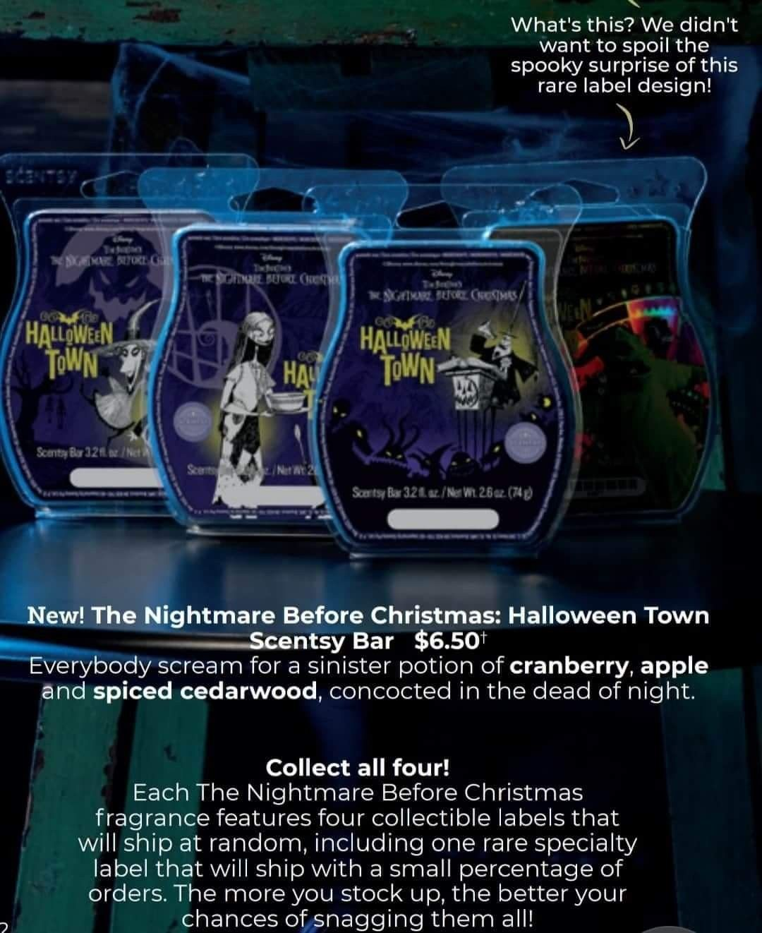 Halloween 2020 Cst Nightmare Before Christmas Halloween Town Scentsy Bar in 2020