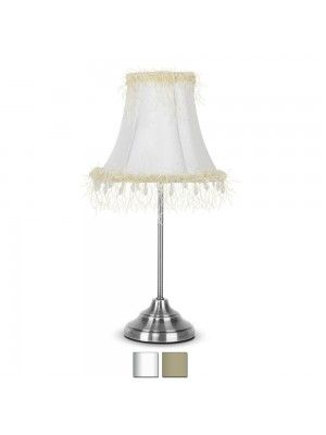 Chrome Shabby Chic Style Touch Table Lamp Bedroom Lighting - Shabby chic table lamps for bedroom
