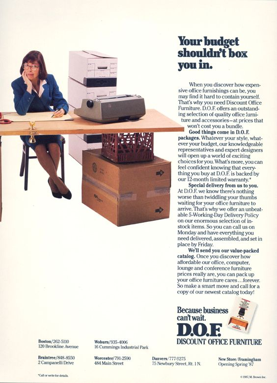 Discount Office Furniture Ad Mail Campaign Inspiration