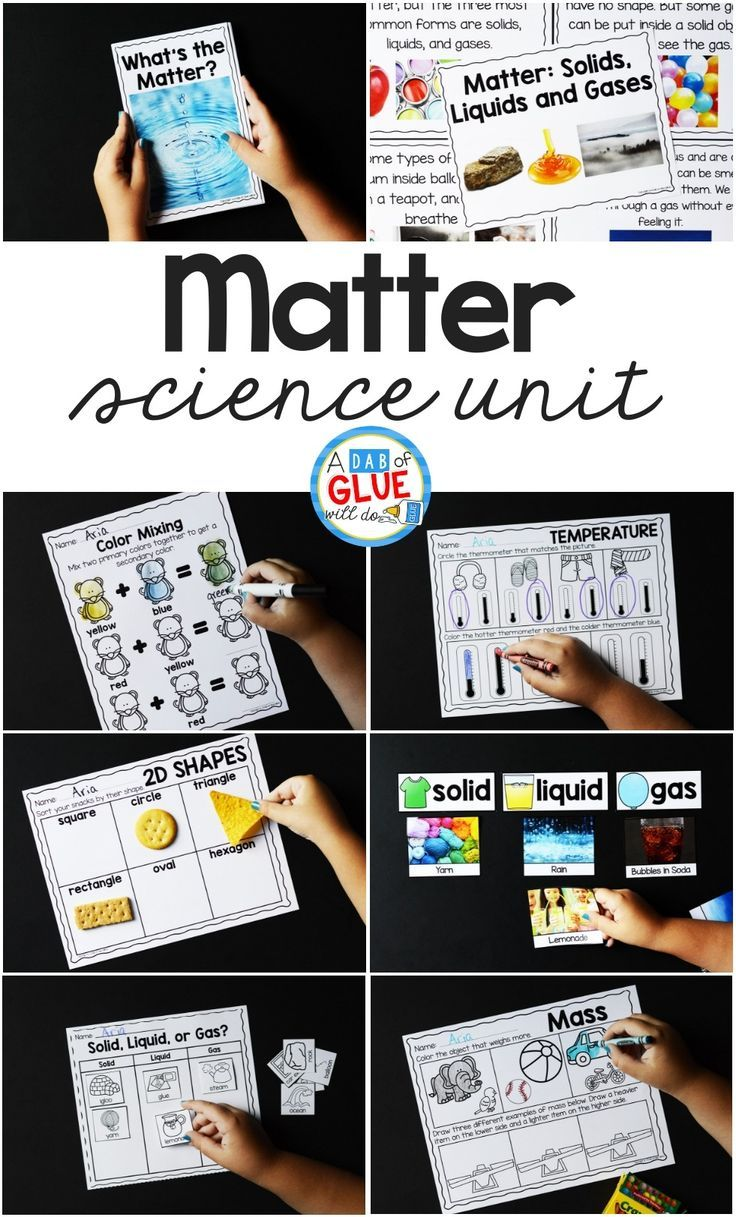 Matter Science Unit HandsOn Learning for Students