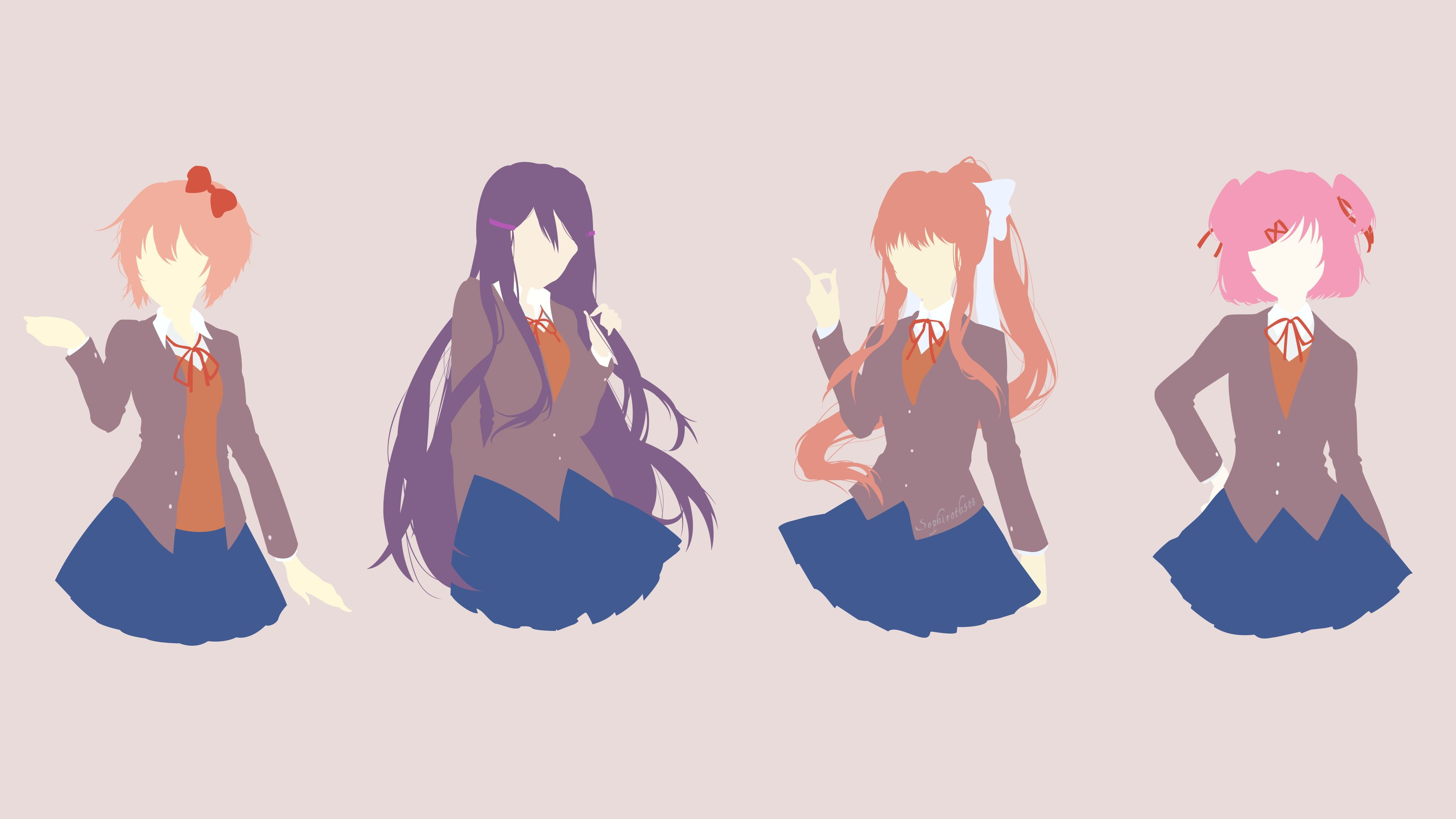 Doki Doki Literature Club Monika Doki Doki Literature Club Yuri