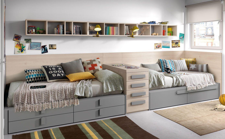 Habitaci n para dos con camas en l nea colecci n chroma - Habitaciones infantiles 2 camas ...