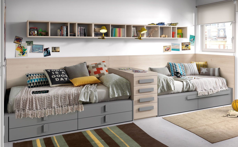 Habitaci n para dos con camas en l nea colecci n chroma for Camas dos en una