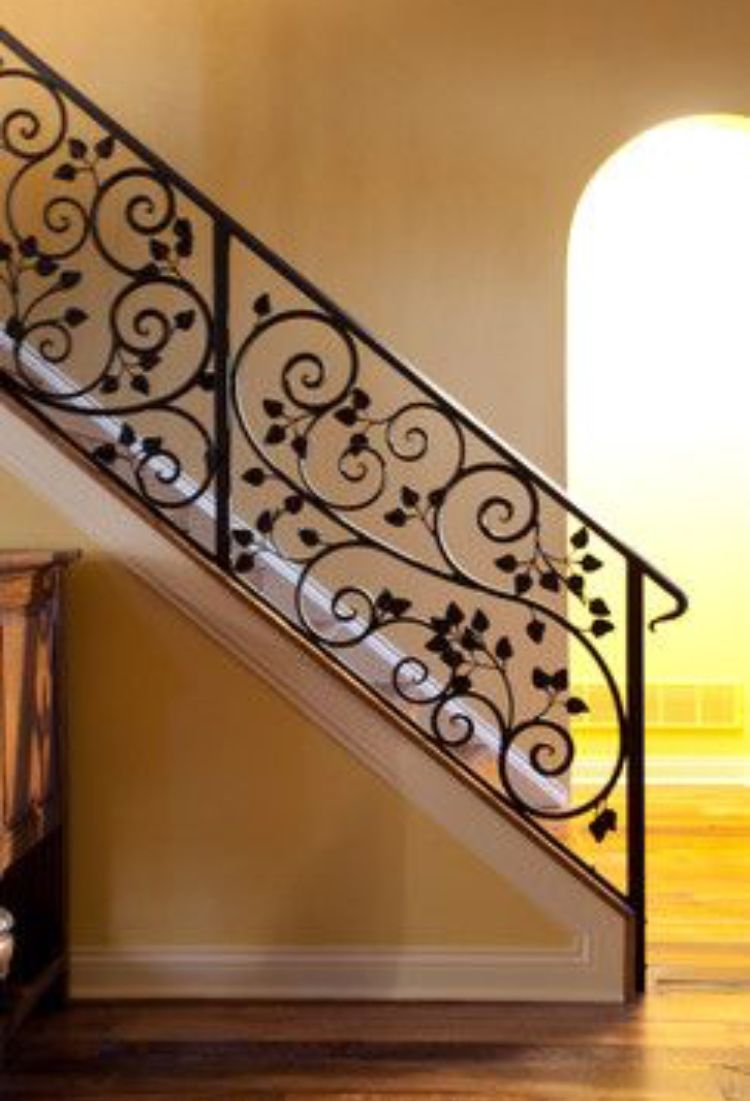 Pin By Architects On Grill Design Wrought Iron Stairs Wrought Iron Stair Railing Staircase Remodel