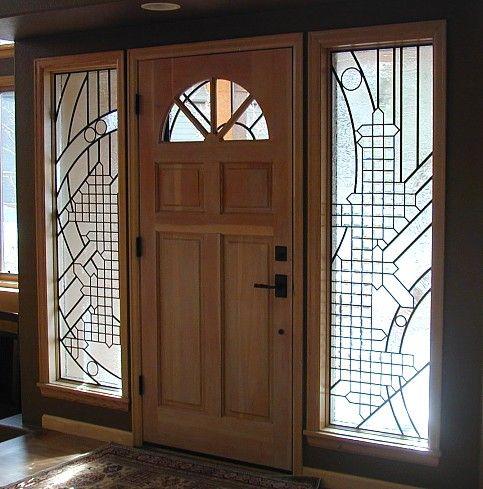 beveled glass entry windows