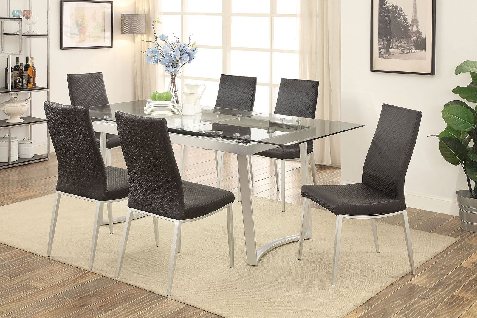 Miriam contemporary dining table set