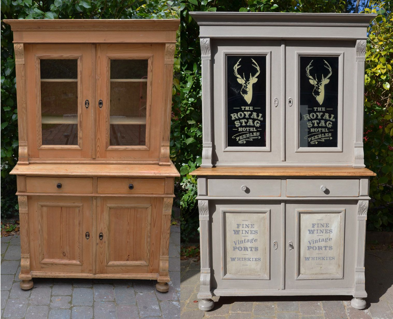 Before And After Annie Sloan French Linen Dresser With