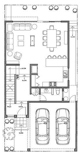 Plano casa monterrey planta baja planos de casas for Planos de casas para construir de una planta