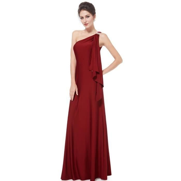 Longue robe rouge bordeau