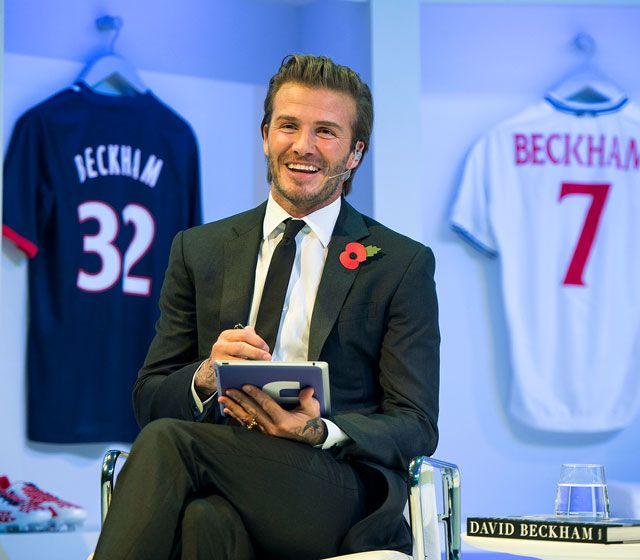 David Beckham habló con sus fans en un especial en Facebook desde Londres