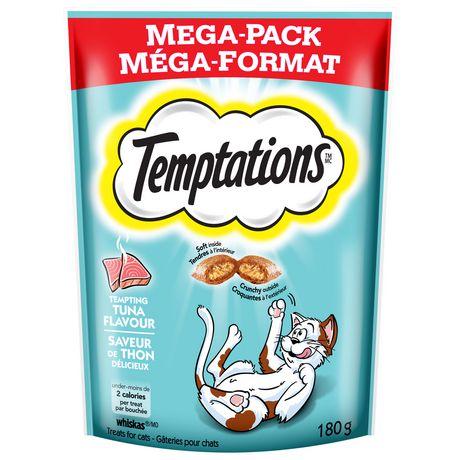 Whiskas Temptations Tempting Tuna Flavour Treats For Cats Seafood Medley Classic Treats Cat Treats