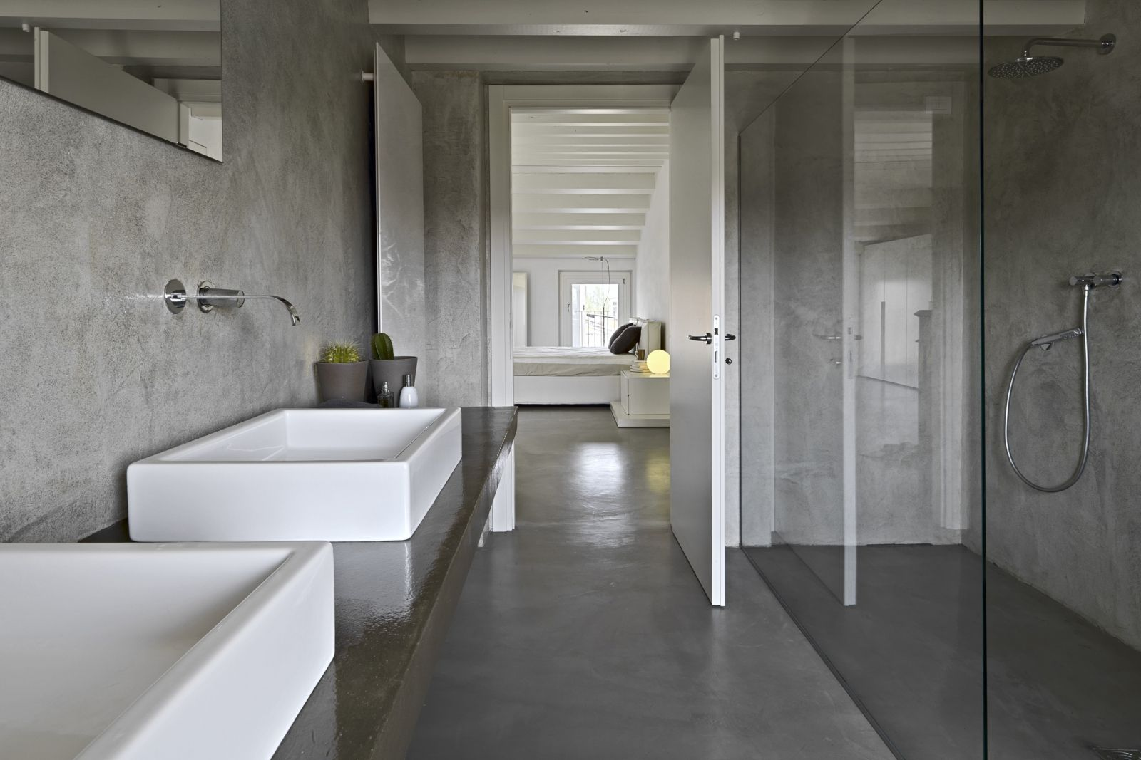 Cement gietvloer badkamer for the home bathroom master