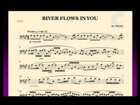 River Flows In You Yiruma Cello Sheet Music Chords And