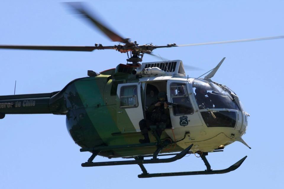 Helicoptero BO-105 de carabineros de chile - MBB Bo 105