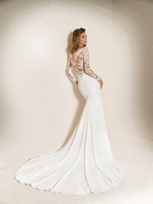 traje de novia raja falda - colección 2018 pronovias   boda   boda