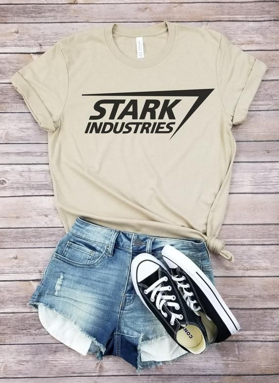 Stark Industries Shirt   Inspired by Ironman Movie Tshirt   Marvel Production   Tony Stark is part of Cute outfits - This updated unisex tee essential fits like a wellloved favorite, featuring a crew neck, short sleeves and designed with superior Airlume combed and ringspun cotton    FEATURES Sideseamed  Retail fit  Unisex sizing  Shoulder taping   FABRICATION Solid Colors 100% Airlume combed and ringspun