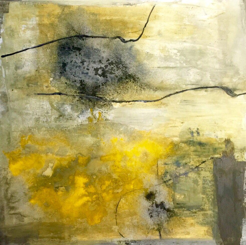 """JAG artiste peintre, Galerie Artêria Bromont. Acrylique sur toile 40"""" x 40"""""""