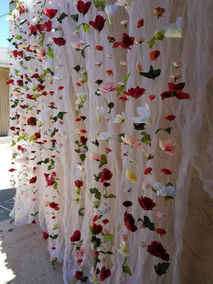 Engagement Party Flower Wall Decor. #engagementpartydecorations #engagementparty…