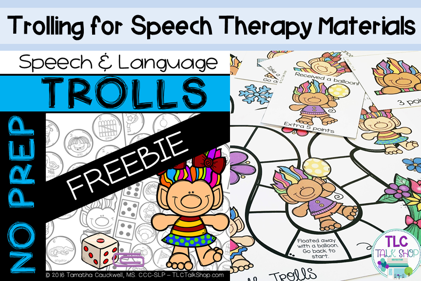 Trolling for Speech Therapy Materials (With images
