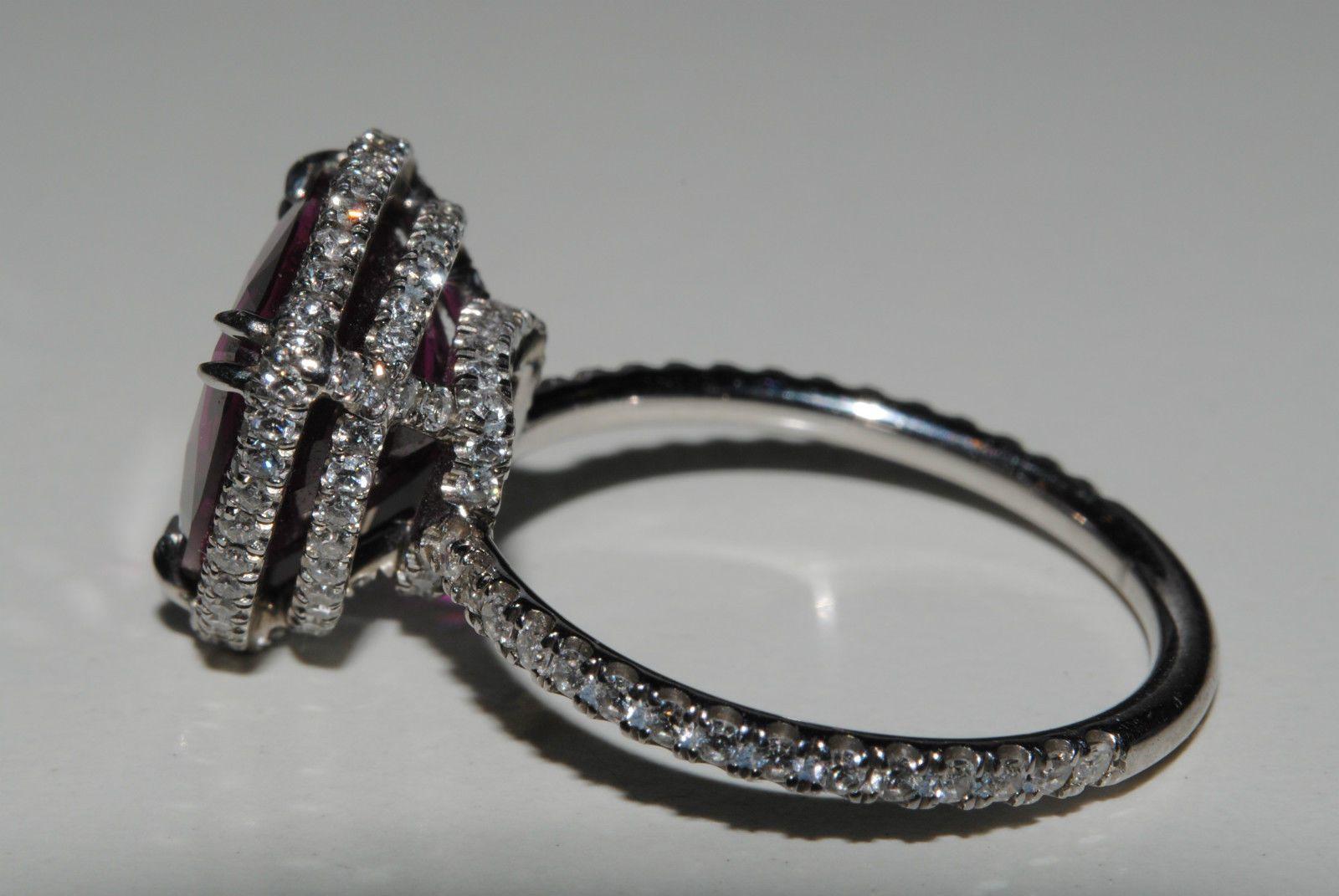 Platinum 539 Natural Triangle Ruby Designer Diamond Ring Ebay: Triangle Ruby Wedding Rings At Reisefeber.org