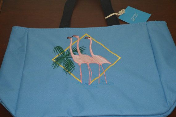 "Personalized Bag with ""3 Flamingo"" Design"