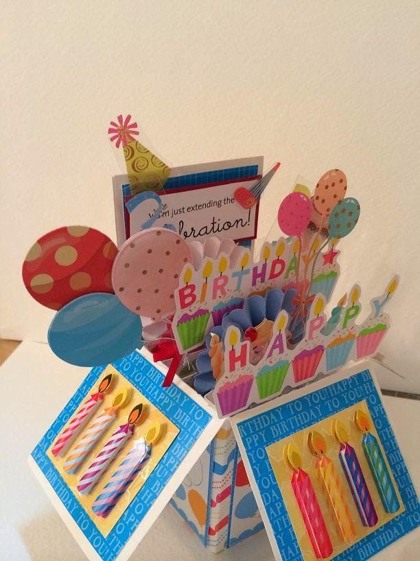 Carolyn S Creative Corner Card In A Box Birthday Boxed Birthday Cards Birthday Cards Diy Exploding Box Card