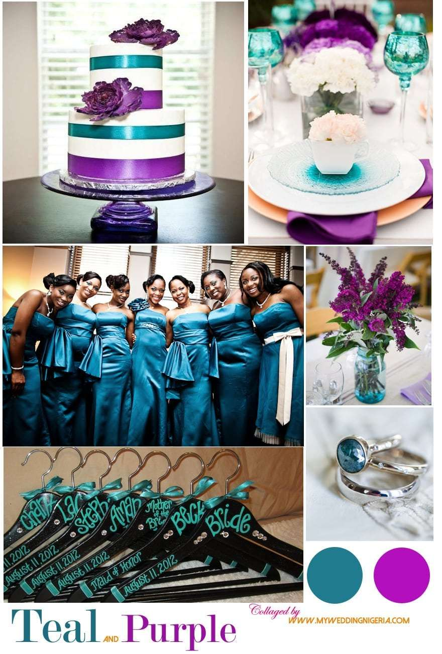 Wedding decorations nigeria  Teal and Purple by My Wedding Nigeria  wedding  Pinterest  Teal