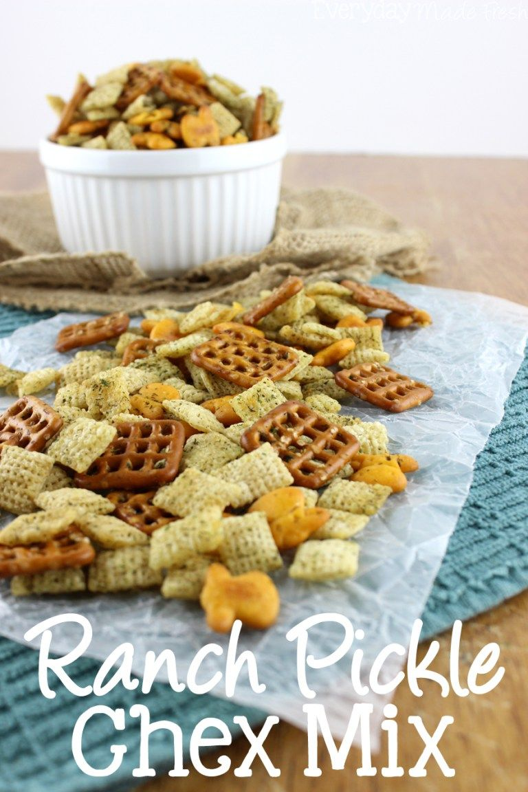 Ranch Pickle Chex Mix Recipe Chex Mix Snack Mix Recipes Ranch Snack Mix Recipe
