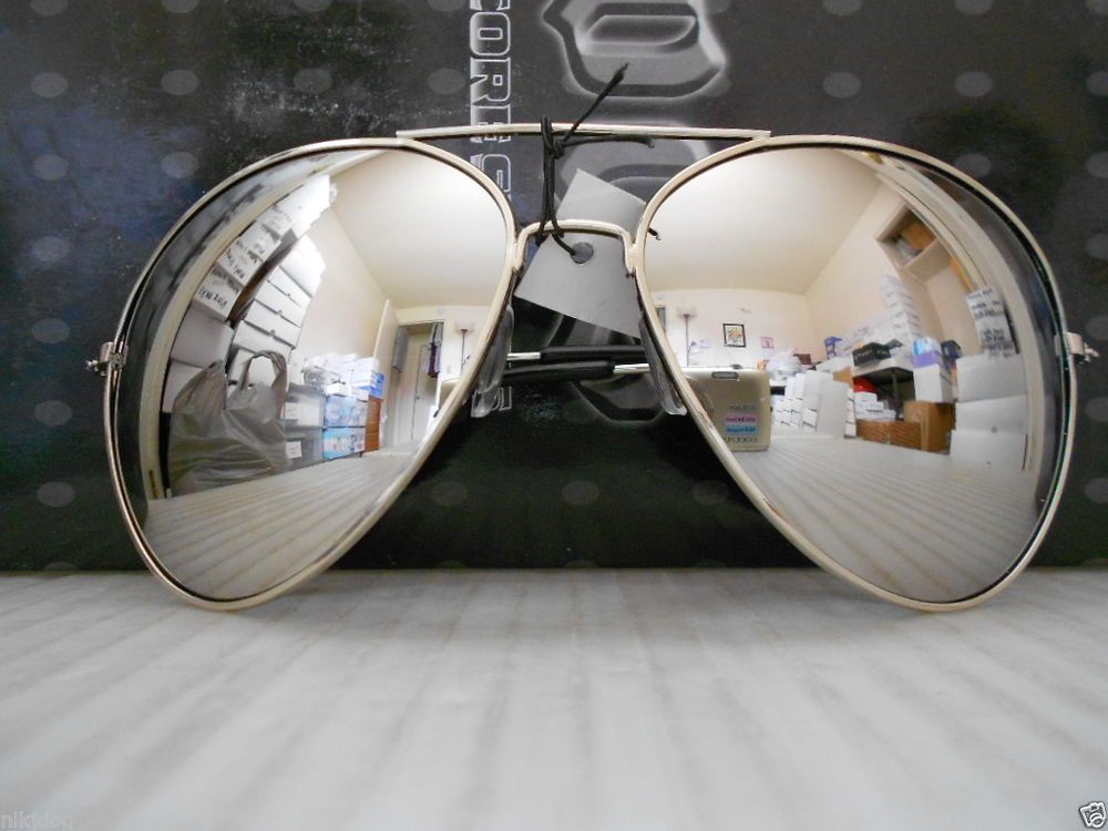 88121144f Oversized Extra Large Aviator Sunglasses Silver Frame Mirror Lenses  Mirrored XXL