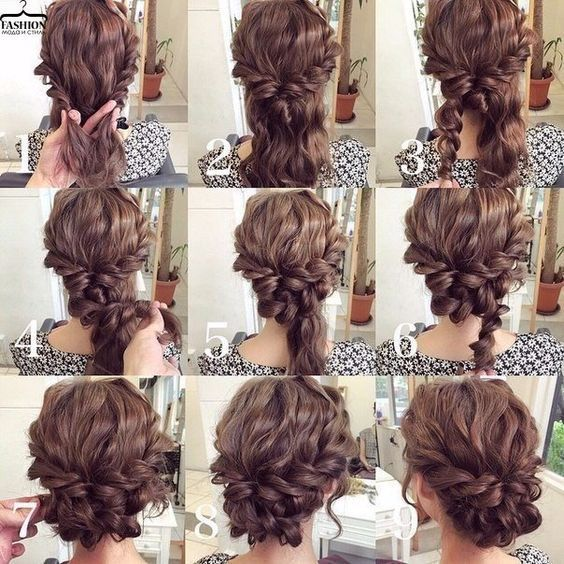 11 Cute Updos For Curly Hair 2017 Pinterest Updos Curly And