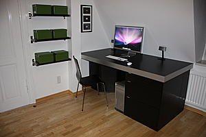 Schreibtisch selber bauen ikea  Ikea Schreibtisch Schwarz | stuhlundtisch.com