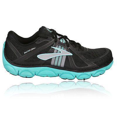 Brooks Pureflow Damen Laufschuhe Outdoor Turnschuhe Sport Jogging Schuhe  Schwarz