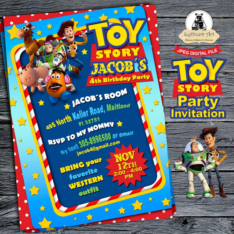 Toy Story Invitation - Toy Story Birthday Party - Toy Story Invite ...