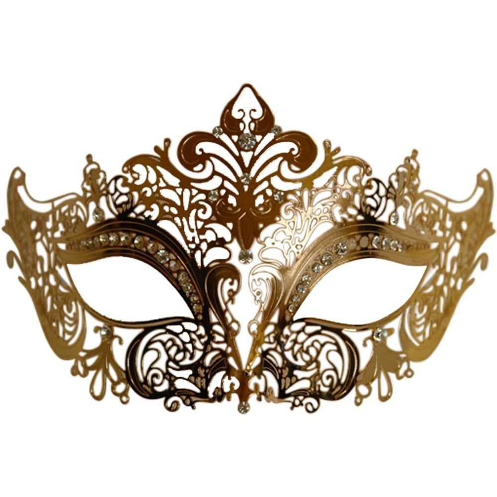 Details about Gold Metal Venetian Half Eye Mask | Eye masks ...