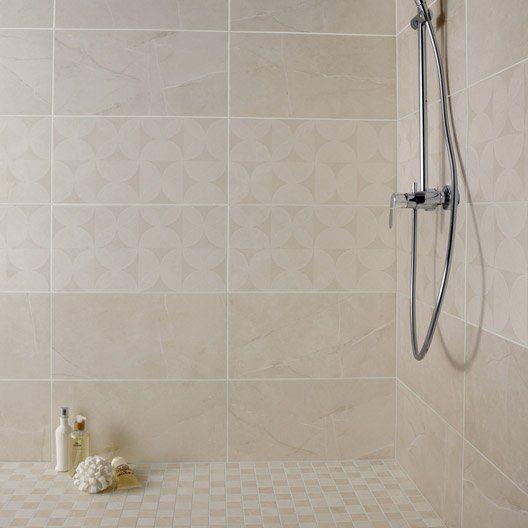 Faïence mur beige, Colysée l30 x L60 cm Salle de bains Pinterest