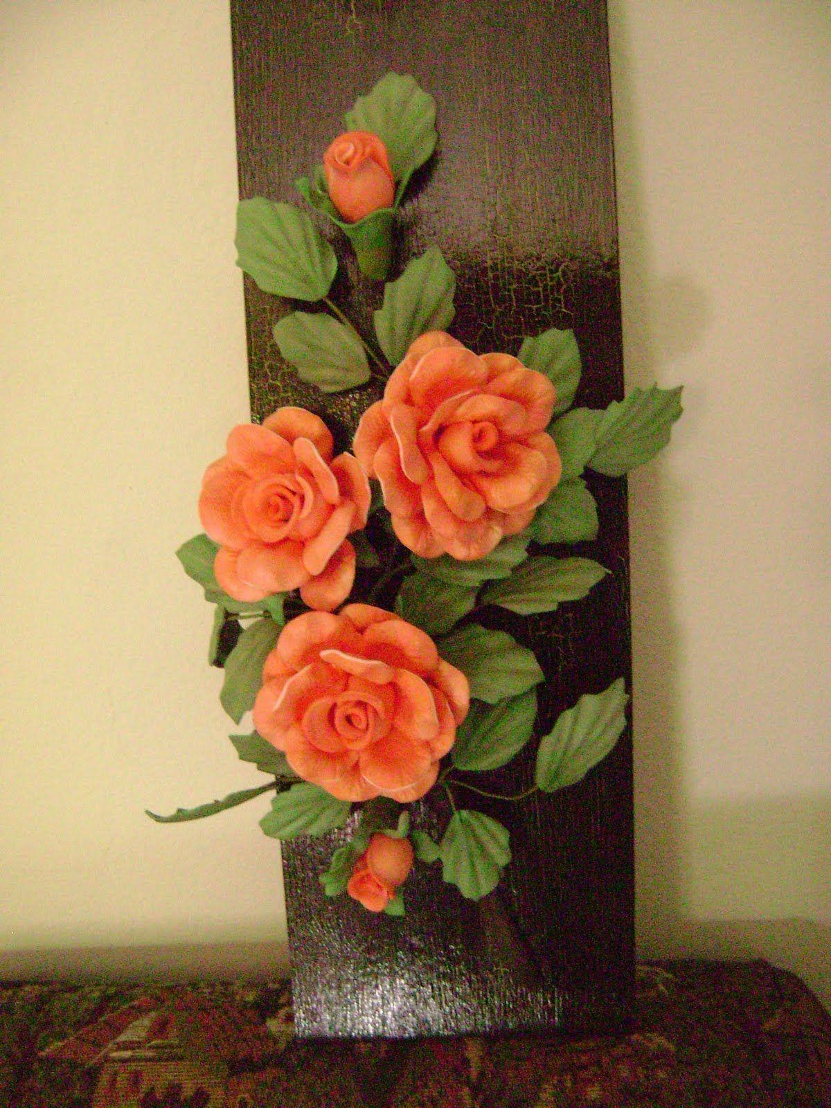 Imagem relacionada   Manualidades, Tutorial de flor, Decorar tejas